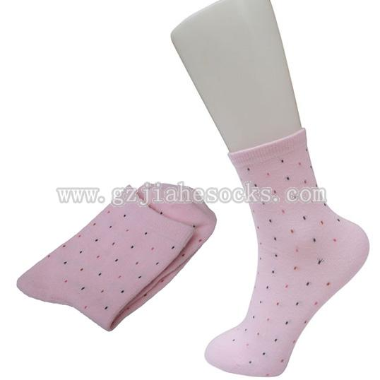 pink color women cotton socks