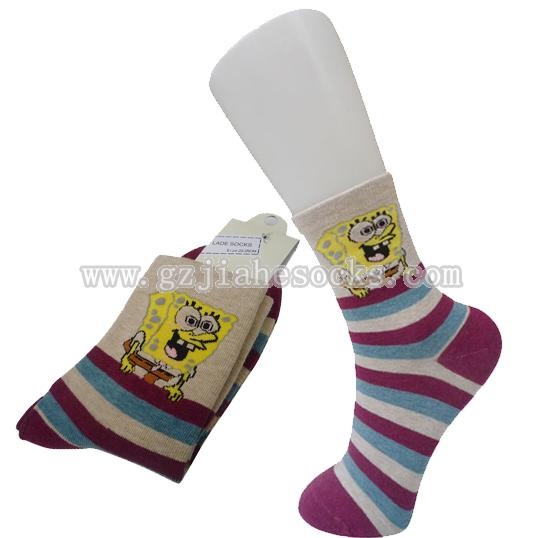 cartoon women casual socks
