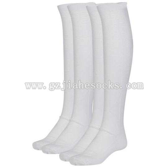 plain white school sock over the knee