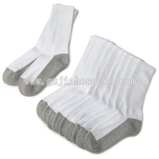 grey white mix color school sock