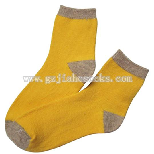 pure color warm wool socks for ladies