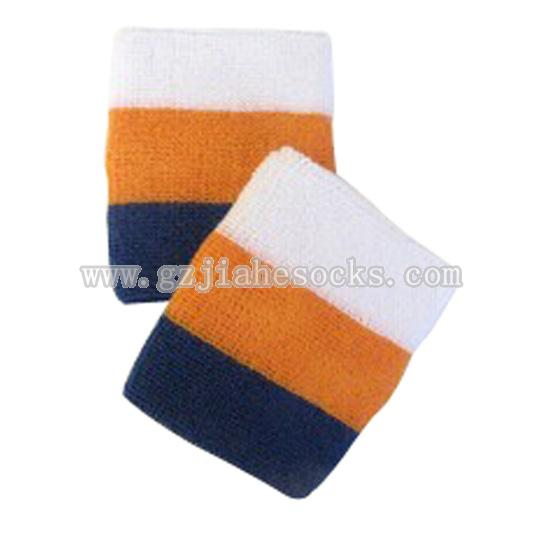 Embroidered sport wrist sweatband