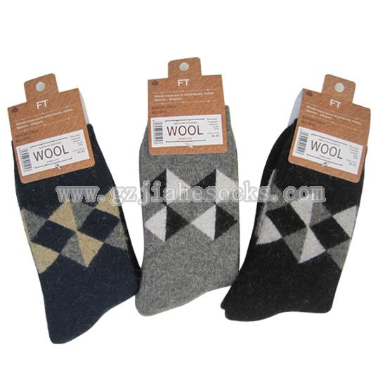 jacquard wool men socks