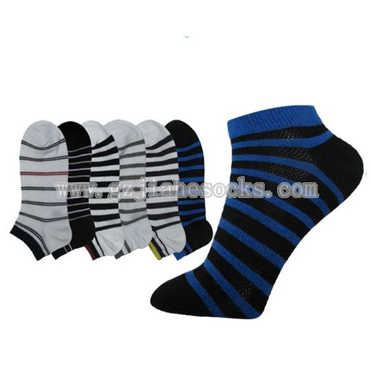 Striped cotton men's socks