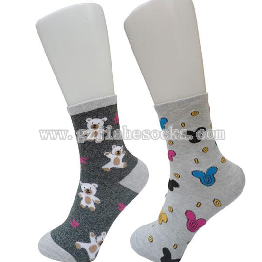 women plain cotton socks