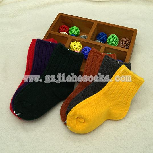 colorful children ankle wool socks