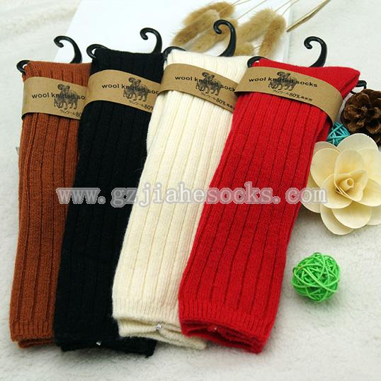 knee high wool children socks